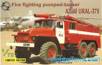 AZ-40 Ural-375 fire fighting pumped-tanker