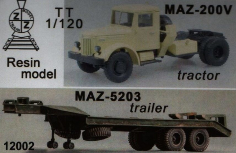 ZZ Modell  12002 MAZ-200V with trailer MAZ-5203
