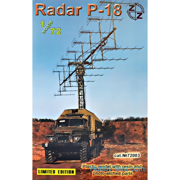 ZZ Modell  72003 P-18 Soviet radar vehicle, plastic/resin/pe