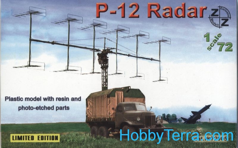 ZZ Modell  72005 P-12 Soviet radar vehicle, plastic/resin/pe