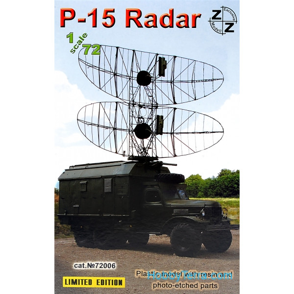 ZZ Modell  72006 P-15 Soviet radar vehicle, resin/pe