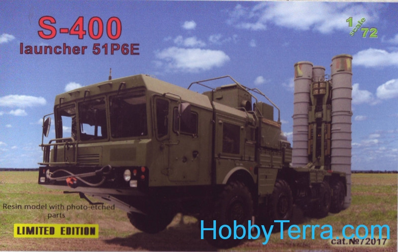 S-400 launcher 51P6E (resin kit & PE set)