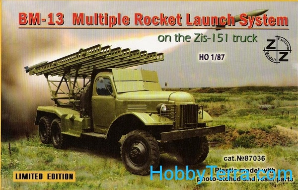ZZ Modell  87036 BM-13 Soviet rocket launch system on ZiL-151 truck