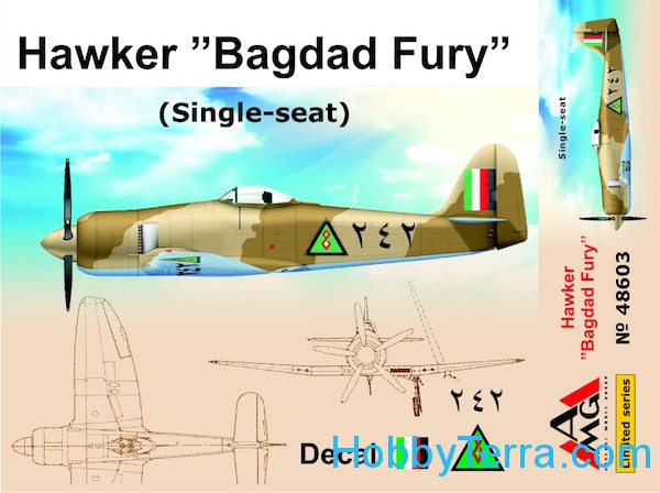 "AMG Models  48603 Hawker ""Bagdad Fury"" (Single seat)"
