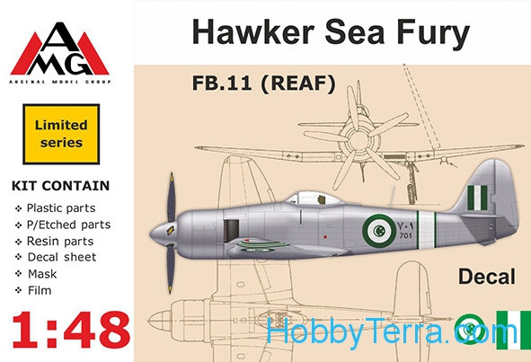 AMG Models  48607 FB.11 (REAF) Hawker Sea Fury