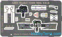 Photo-etched set 1/72 for MiG Ye-8, for ART Model kit