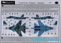 "Decal 1/72 for Sukhoi Su-34 ""Fullback""-""Hellduck"""