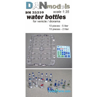 Water bottles for vehicle/diorama