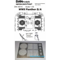 Grilles 1/35 for Panther D/A, WWII