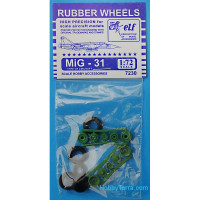Rubber wheels 1/72 for MiG-31