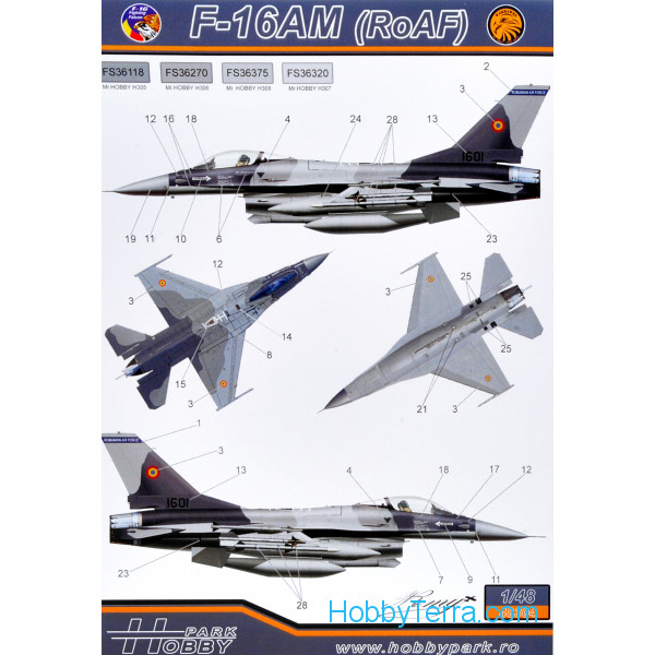 Hobby Park  48304 Decal 1/48 F-16AM/BM (RoAF)