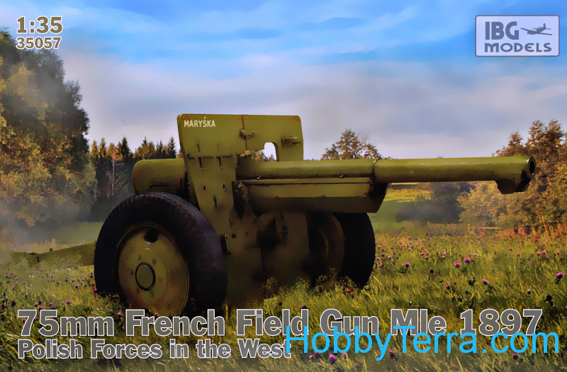 IBG Models  35057 75mm French Field Gun Mle 1897 (Polish Forces in the West)