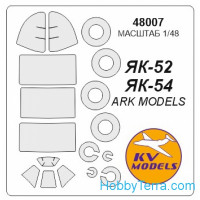 Mask 1/48 for Yak-52 + wheels, for ARK Models kit