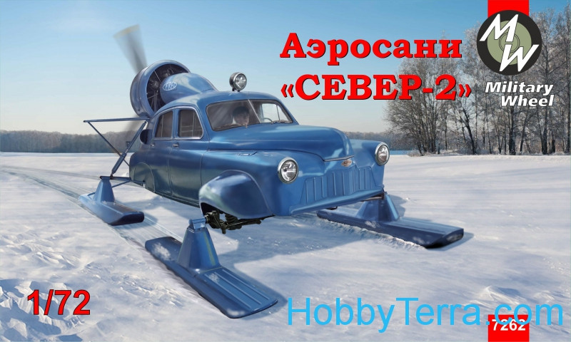 "Military Wheels  7262 Soviet aerosan ""Sever-2"" (""North-2"")"