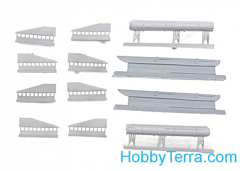 Northstar Models  72053 Set of two Kh-29 missiles (L/ T) + AKU 58 launcher