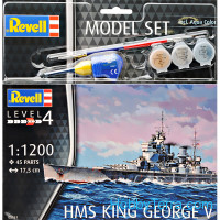 "Model set - His Majesty's ""King George V"" Ship"