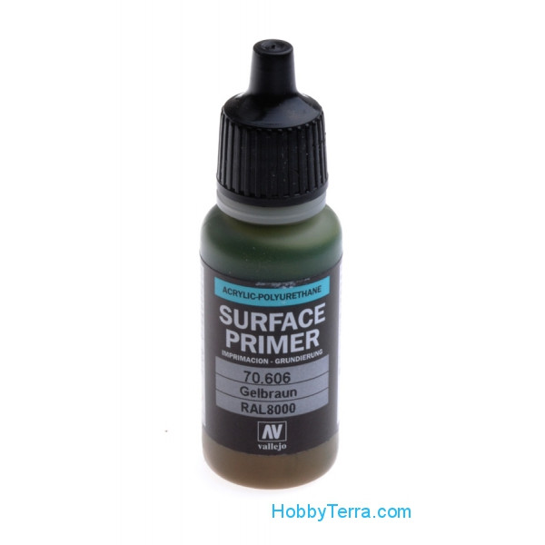 Vallejo  70606 Surface Primer 17ml. German Green Brown RAL 8000