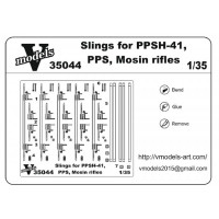 Photo-etched set 1/35 Slings for PPSH 41, PPS , Mosin rifles
