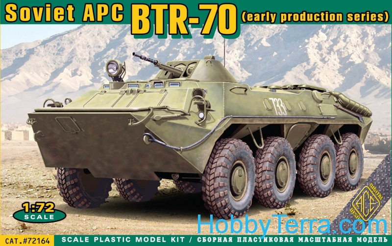 Ace  72164 BTR-70 Soviet armored personnel carrier, early prod.