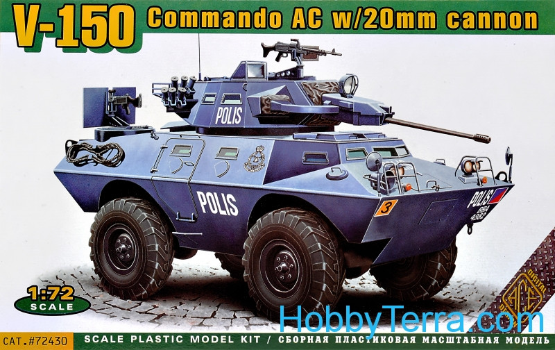Ace  72430 LAV-150 APC w/20mm and 90mm Guns