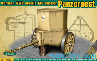 WWII German mobile MG bunker Panzernest