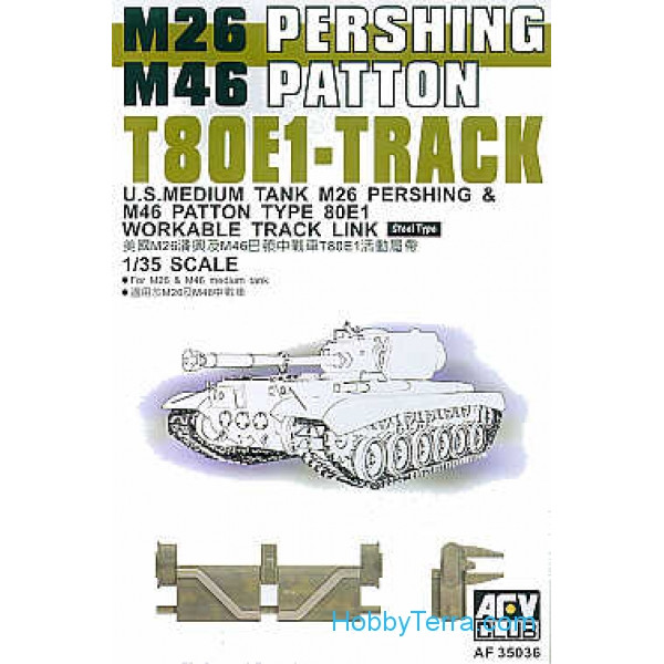 AFV-Club  35036 Track T80E1 for M26/M46 Pershing / Patton tanks
