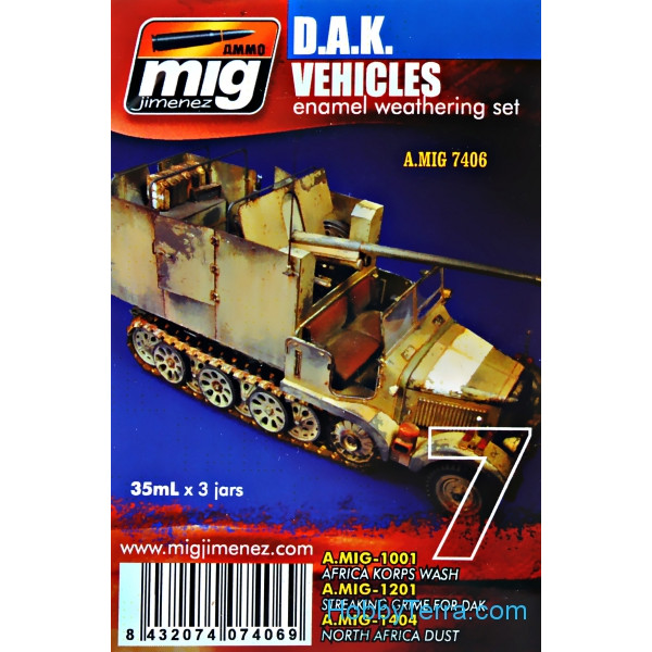 MIG (AMMO)  7406 Weathering Set. D.A.K. vehicles