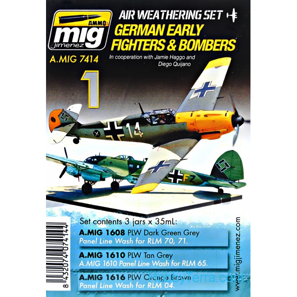 MIG (AMMO)  7414 Weathering Set. German early fighters and bombers