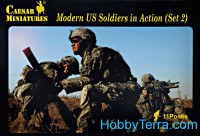 Modern US soldiers in action, set 2