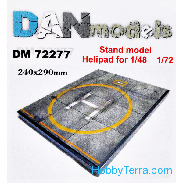 DAN models  72277 Display stand. Helicopter parking theme, 240x290mm