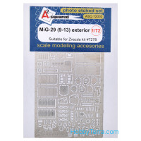 DAN models  ASQ72002 Photo-etched set 1/72 MiG-29 (9-13) exterior, for Zvezda kit