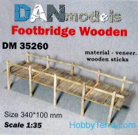 Material for dioramas. Footbridge wooden