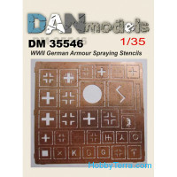 German Armor Spraying Stencils