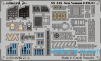 Photo-etched set 1/72 Sea Venom FAW.21 (self adhesive), for CyberHobby kit