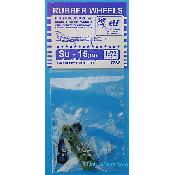 ELF  7232 Rubber wheels 1/72 for Su-15/TM