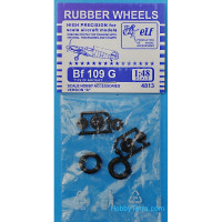 Rubber wheels 1/48 for Bf 109 G, version A