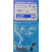 Rubber wheels 1/72 for La-5/7