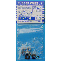 Rubber wheels 1/72 for IL-10M