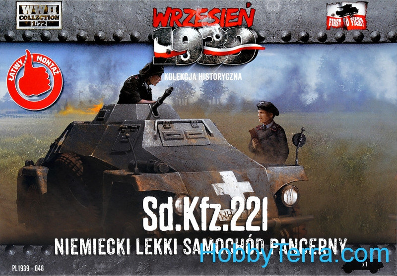 First To Fight  048 Sd.Kfz.221 German Light Armored Car (Snap fit)
