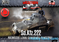 Sd.Kfz.222 German Light Armored Car (Snap fit)