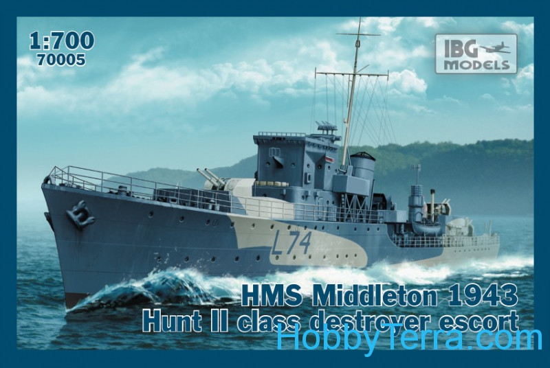 IBG Models  70005 HMS Middleton 1943 Hunt II class destroyer escort