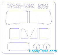 Mask 1/35 for UAZ-469, for Military Wheels kit