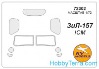 Mask 1/72 for Zil-157, for ICM kit