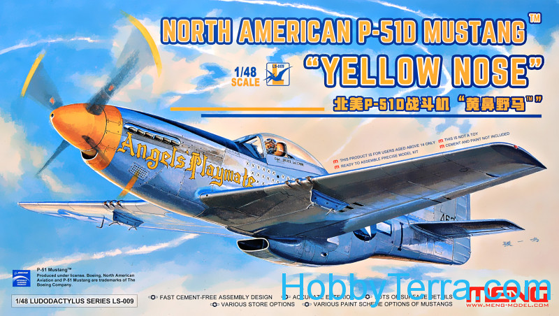 "Meng  LS009 North American P-51D Mustang ""Yellow Nose"""
