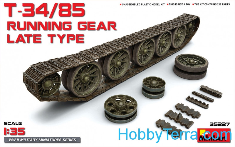 Miniart  35227 T-34/85 Running gear, late type