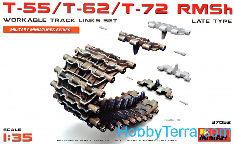 Miniart  37052 T-55/T-62/T-72 RMSh Workable Track Links Set, late type