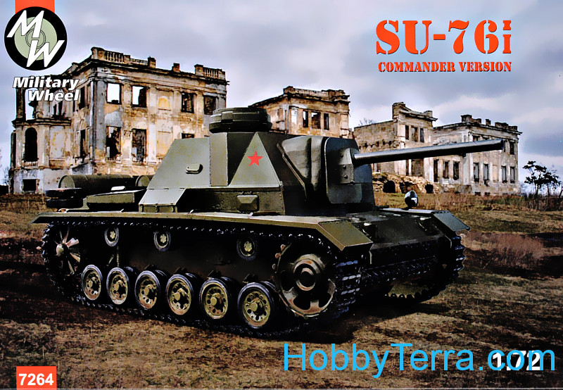Military Wheels  7264 SU-76i commander tower version