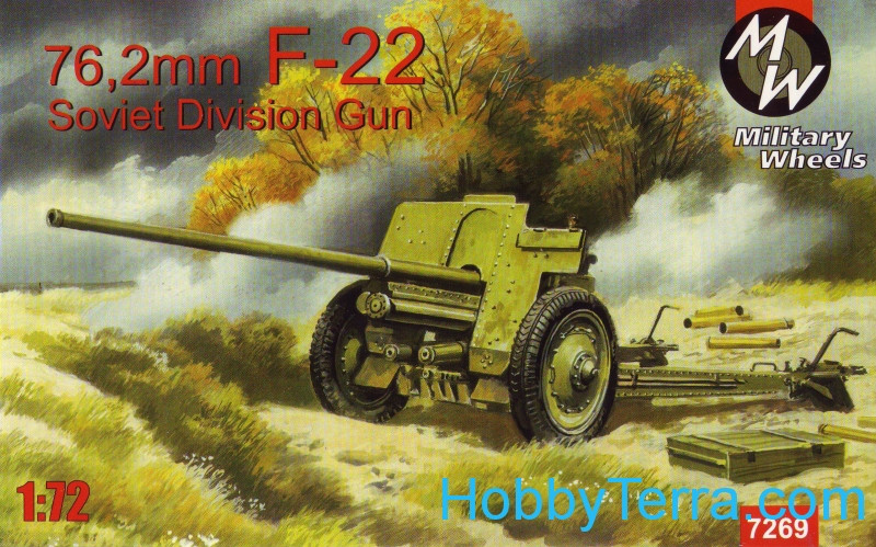 Military Wheels  7269 F-22 Soviet 76,2mm division gun
