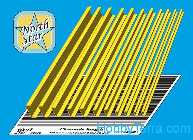 Northstar Models  35008 Channels (11 pcs in the set)
