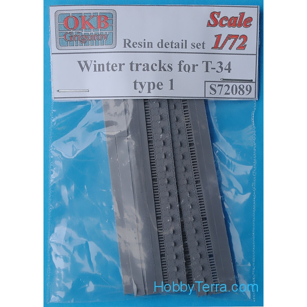 OKB Grigorov  S72089 Winter tracks 1/72 for T-34, type 1